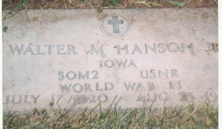 HANSON, WALTER M JR - Lee County, Iowa   WALTER M JR HANSON