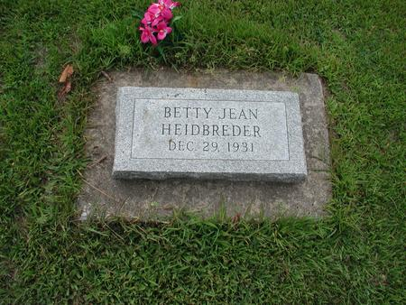 HEIDBREDER, BETTY - Lee County, Iowa | BETTY HEIDBREDER