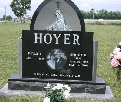 HOYER, BERTHA - Lee County, Iowa | BERTHA HOYER