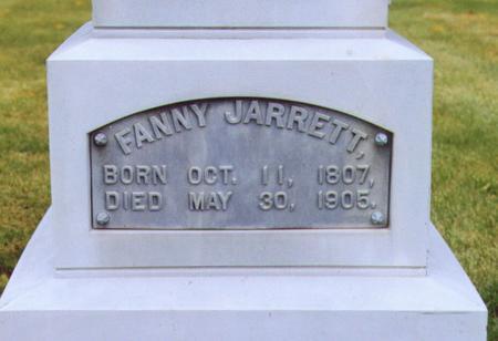 LANTZ JARRETT, FANNY - Lee County, Iowa | FANNY LANTZ JARRETT