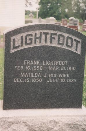 STACKBARGER LIGHTFOOT, MATILDA J. - Lee County, Iowa | MATILDA J. STACKBARGER LIGHTFOOT