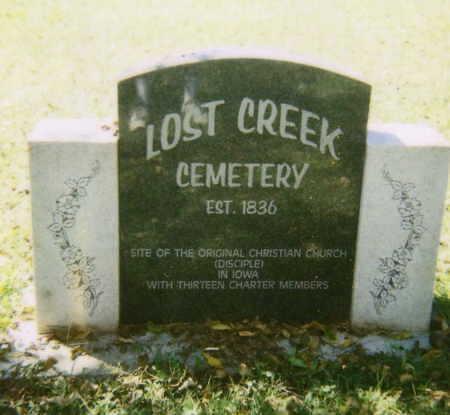 LOST CREEK, CEMETERY - Lee County, Iowa   CEMETERY LOST CREEK