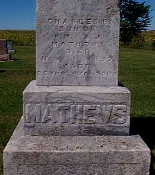MATHEWS,, CHARLES B. - Lee County, Iowa   CHARLES B. MATHEWS,