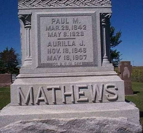 MATHEWS,, PAUL M. & AURILLA J. - Lee County, Iowa   PAUL M. & AURILLA J. MATHEWS,