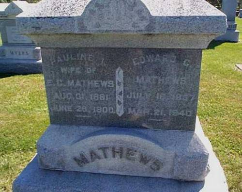 MATHEWS,, PAULINE I. & EDWARD C. - Lee County, Iowa | PAULINE I. & EDWARD C. MATHEWS,