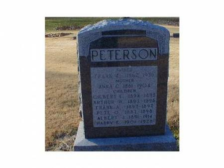 PETERSON, FRANK A., ANNA C. - Lee County, Iowa | FRANK A., ANNA C. PETERSON