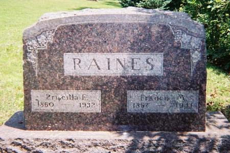 RAINES, FRANCIS - Lee County, Iowa | FRANCIS RAINES