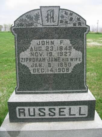 RUSSELL, ZIPPORAH JANE - Lee County, Iowa | ZIPPORAH JANE RUSSELL