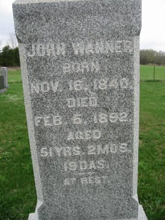 WANNER, JOHN - Lee County, Iowa | JOHN WANNER