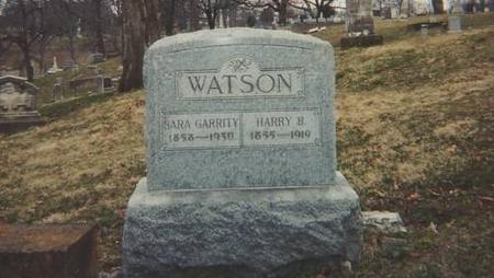 WATSON, HARRY B AND SARA GARRITY - Lee County, Iowa | HARRY B AND SARA GARRITY WATSON