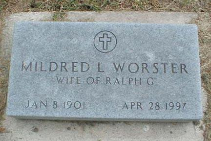 WORSTER, MILDRED L. - Lee County, Iowa | MILDRED L. WORSTER