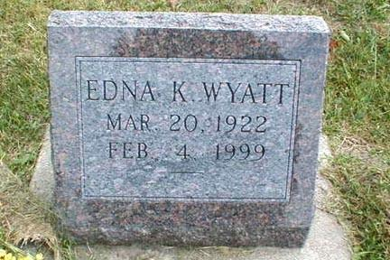 WYATT, EDNA K. - Lee County, Iowa | EDNA K. WYATT