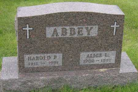 ABBEY, HAROLD B. - Linn County, Iowa | HAROLD B. ABBEY