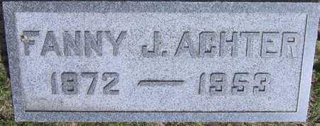 ACHTER, FANNY J - Linn County, Iowa | FANNY J ACHTER