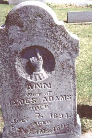 ADAMS, ANN - Linn County, Iowa | ANN ADAMS