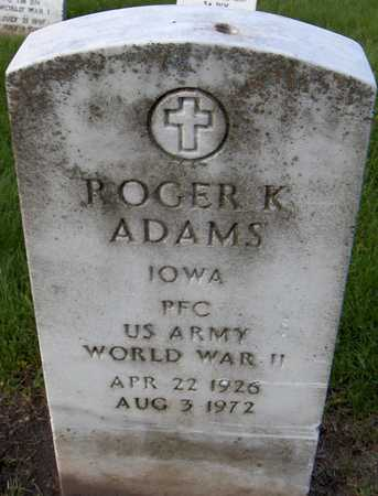 ADAMS, ROGER K. - Linn County, Iowa | ROGER K. ADAMS