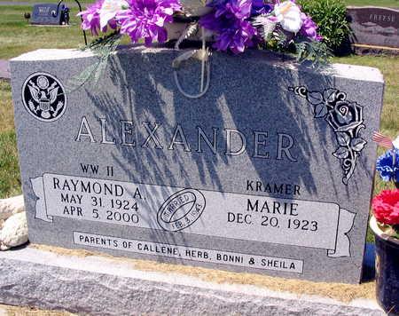 ALEXANDER, RAYMOND A. - Linn County, Iowa | RAYMOND A. ALEXANDER