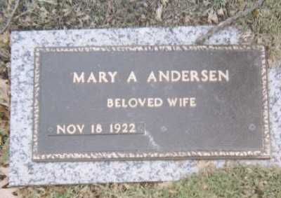 ANDERSEN, MARY A - Linn County, Iowa | MARY A ANDERSEN