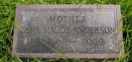 ANDERSON, LENA MAUDE - Linn County, Iowa | LENA MAUDE ANDERSON