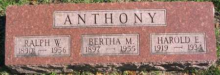ANTHONY, BERTHA M. - Linn County, Iowa | BERTHA M. ANTHONY