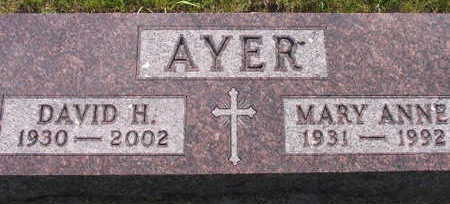 AYER, MARY ANNE - Linn County, Iowa | MARY ANNE AYER