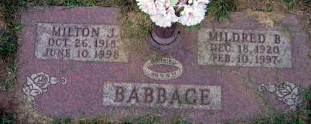 BABBAGE, MILDRED B. - Linn County, Iowa | MILDRED B. BABBAGE