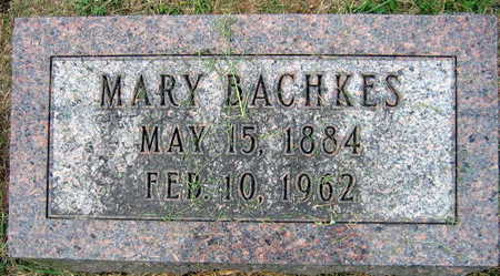 BACHKES, MARY - Linn County, Iowa | MARY BACHKES