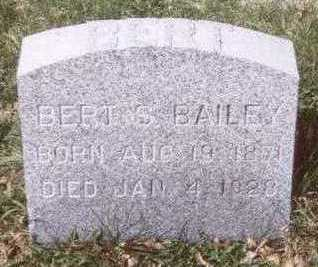 BAILEY, BERT S. - Linn County, Iowa | BERT S. BAILEY