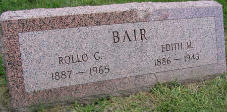 BAIR, ROLLO G. - Linn County, Iowa | ROLLO G. BAIR