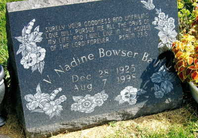 BOWSER BALL, V. NADINE - Linn County, Iowa | V. NADINE BOWSER BALL