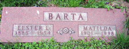 BARTA, MATILDA - Linn County, Iowa | MATILDA BARTA