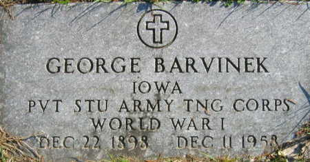 BARVINEK, GEORGE - Linn County, Iowa | GEORGE BARVINEK