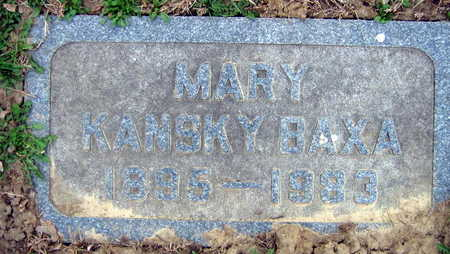 KANSKY BAXA, MARY - Linn County, Iowa | MARY KANSKY BAXA