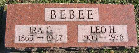 BEBEE, LEO H. - Linn County, Iowa | LEO H. BEBEE