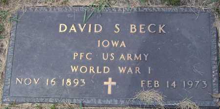 BECK, DAVID S - Linn County, Iowa | DAVID S BECK