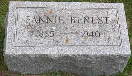 BENEST, FANNIE - Linn County, Iowa | FANNIE BENEST