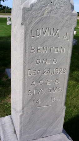 BENTON, LOVINA J. - Linn County, Iowa | LOVINA J. BENTON