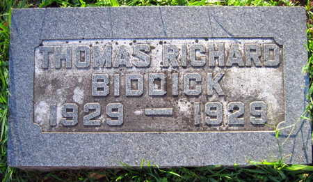 BIDDICK, THOMAS RICHARD - Linn County, Iowa   THOMAS RICHARD BIDDICK