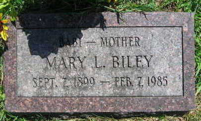 BILEY, MARY L. - Linn County, Iowa | MARY L. BILEY