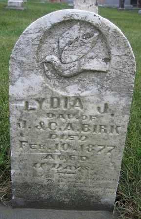 BIRK, LYDIA J. - Linn County, Iowa | LYDIA J. BIRK