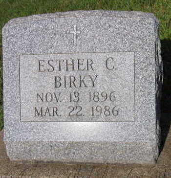 BIRKY, ESTHER C. - Linn County, Iowa | ESTHER C. BIRKY