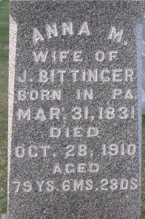 BITTINGER, ANNA M. - Linn County, Iowa | ANNA M. BITTINGER