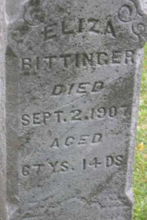 BITTINGER, ELIZA - Linn County, Iowa | ELIZA BITTINGER