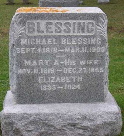 BLESSING, MARY A. - Linn County, Iowa | MARY A. BLESSING