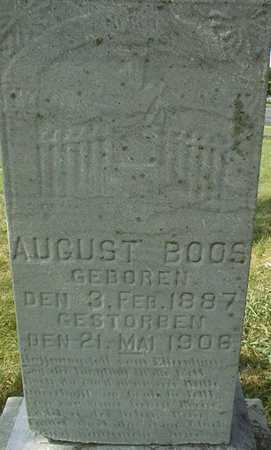 BOOS, AUGUST - Linn County, Iowa | AUGUST BOOS