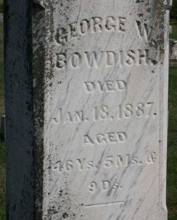 BOWDISH, GEORGE W. - Linn County, Iowa | GEORGE W. BOWDISH