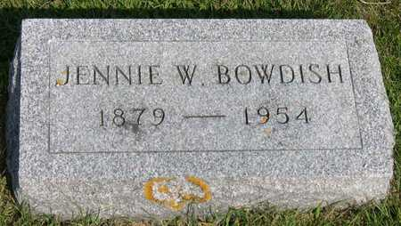 BOWDISH, JENNIE W. - Linn County, Iowa | JENNIE W. BOWDISH