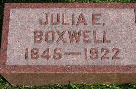 BOXWELL, JULIA E. - Linn County, Iowa | JULIA E. BOXWELL