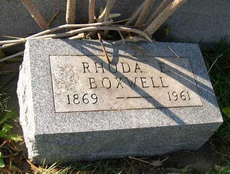 BOXWELL, RHODA E. - Linn County, Iowa | RHODA E. BOXWELL