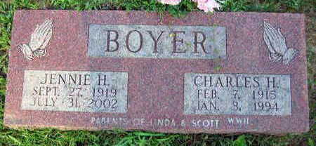 BOYER, JENNIE H. - Linn County, Iowa | JENNIE H. BOYER